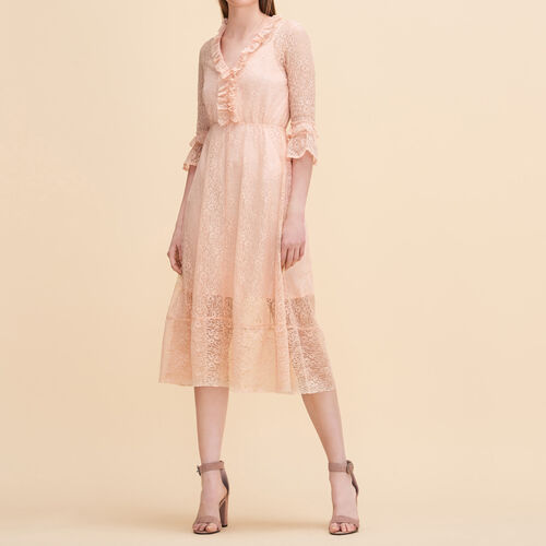 Long lace dress - Dresses - MAJE