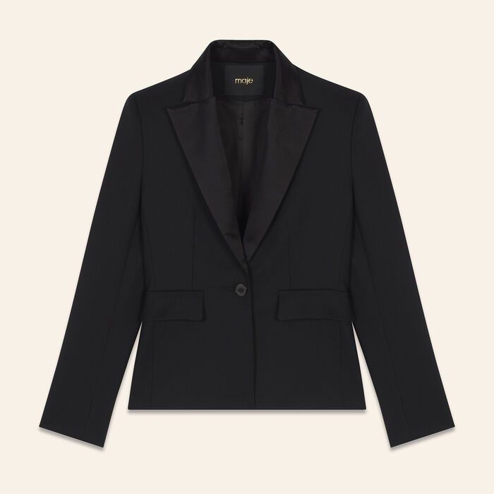 Wool blend tailored jacket - Evening Capsule - MAJE