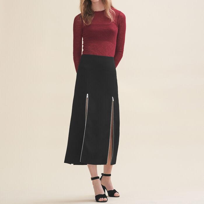 Long crepe skirt -  - MAJE