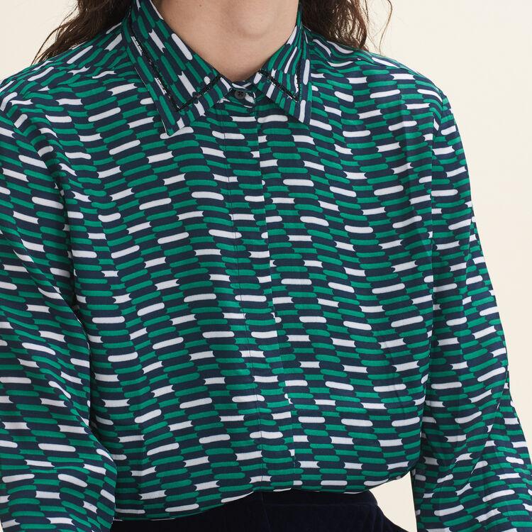 Floaty printed shirt - Tops & T-Shirts - MAJE
