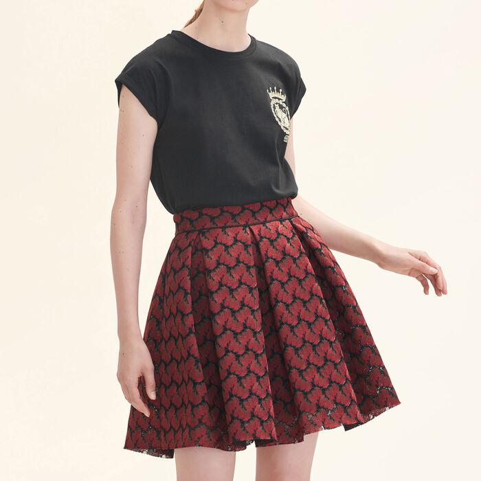 Bonded lace skater skirt -  - MAJE