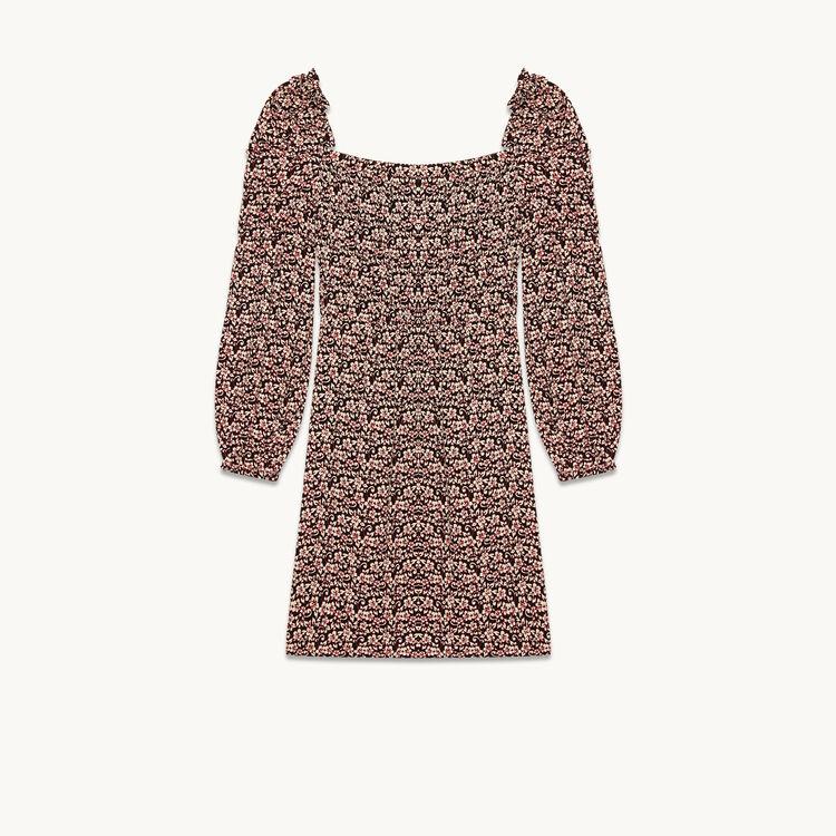 Short dress with floral print - Dresses - MAJE