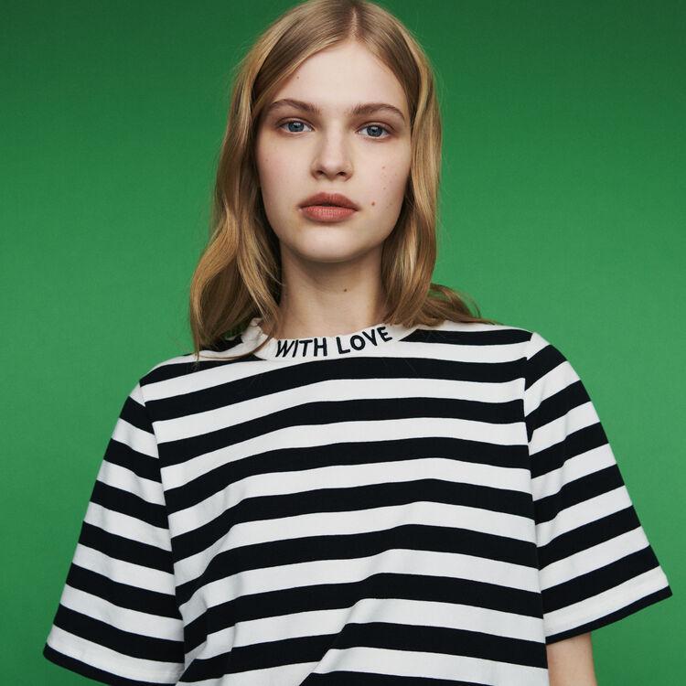 마쥬 TAMARA 스트라이프 반팔 티셔츠 MAJE Bicolor striped T-shirt,Stripe
