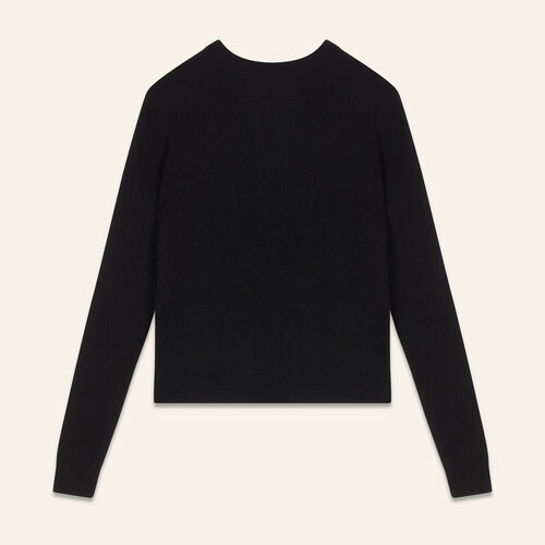 Backless angora jumper - Sweaters - MAJE