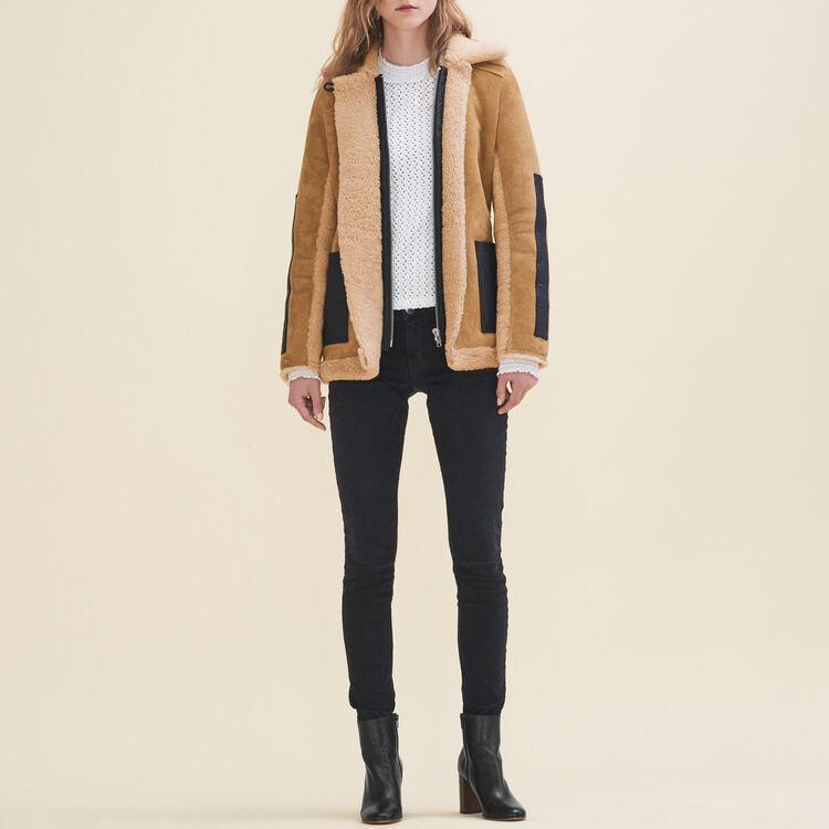Sheepskin coat - Coats & Jackets - MAJE
