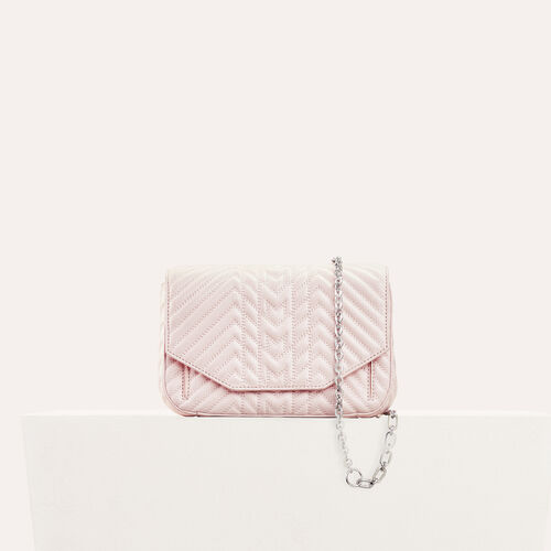 Quilted leather evening bag    - All bags - MAJE