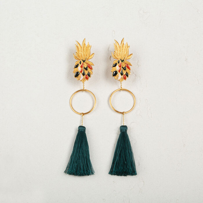 Tassel earrings - Shoes & Accessories - MAJE