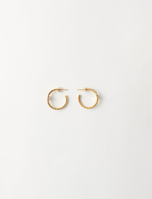 마쥬 귀걸이 MAJE 220NCREOLEPRECPM Gold-plated small earrings,Gold