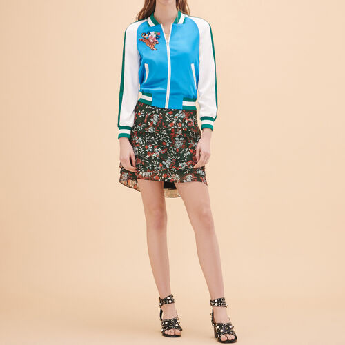 Two-tone varsity jacket - Coats & Jackets - MAJE
