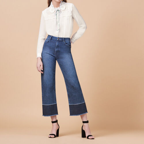 Wide-leg jeans with fringing - Pants & Jeans - MAJE