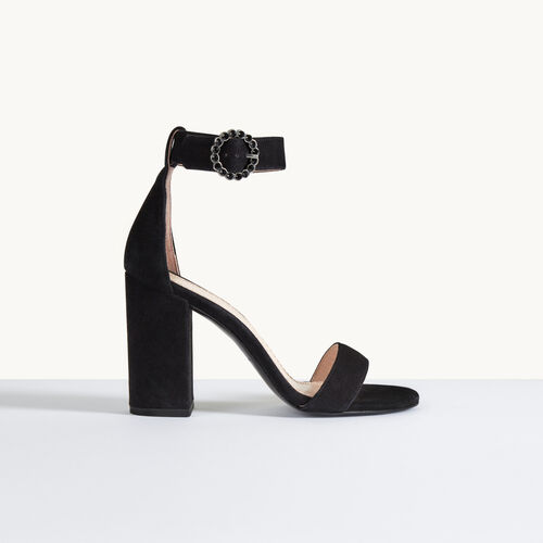 Suede heeled sandals - Shoes & Accessories - MAJE