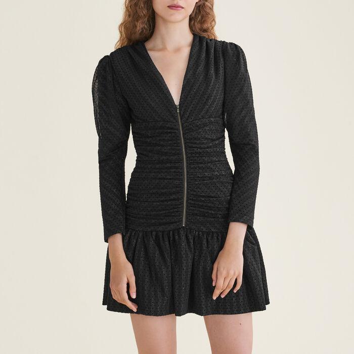 Short draped dress - Dresses - MAJE