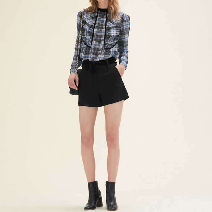 Floaty checked blouse - Tops & T-Shirts - MAJE