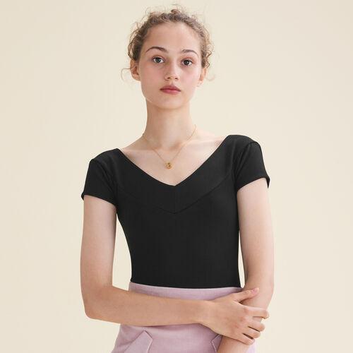 Short-sleeved bodysuit - Evening Capsule - MAJE
