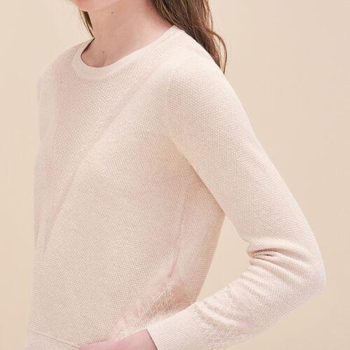 Fine knit jumper with lurex - Sweaters - MAJE