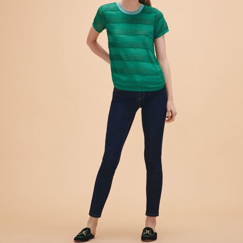 Knitted string top - Tops & Shirts - MAJE
