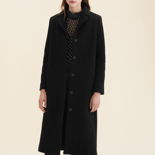 Long wool-blend coat - Coats & Jackets - MAJE