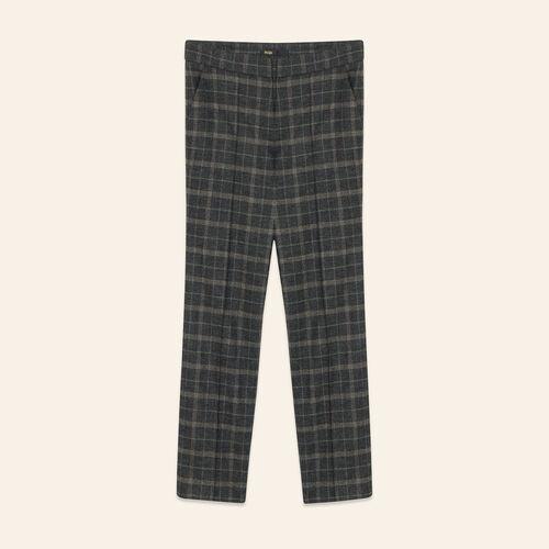 Tartan cigarette trousers - Pants & Jeans - MAJE