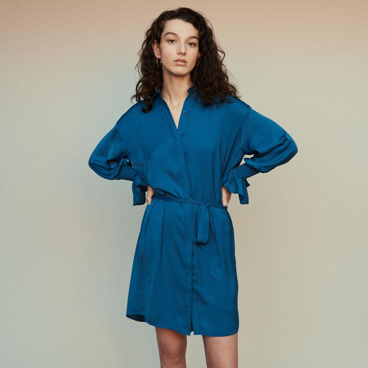 마쥬 REBANO 셔츠 원피스 2컬러 MAJE REBANO Shirt dress with smocks