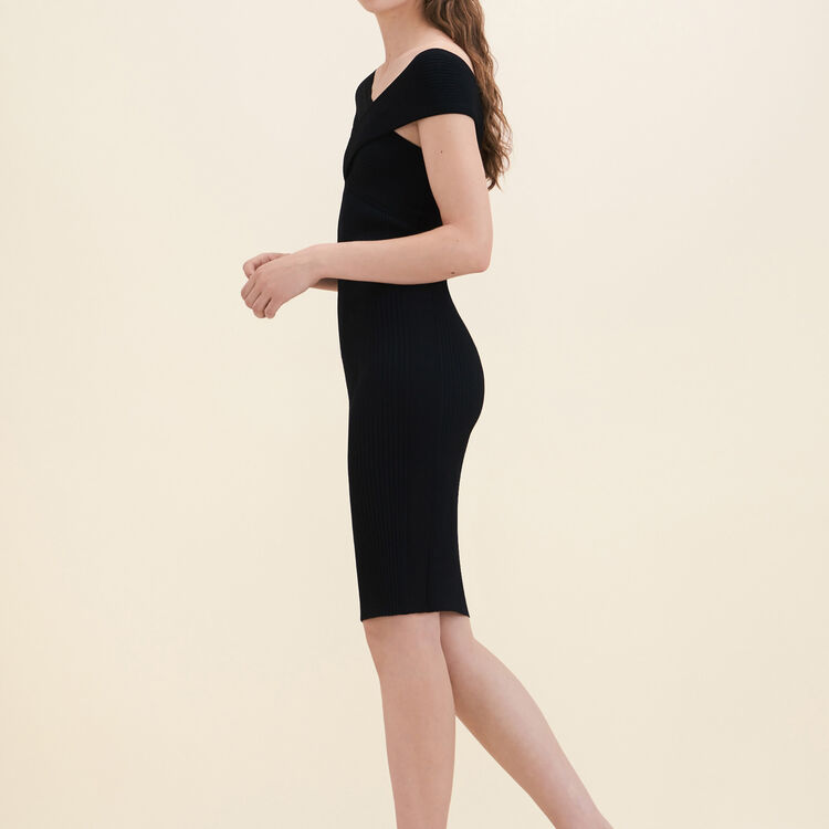 Ribbed knit sleeveless dress - Dresses - MAJE