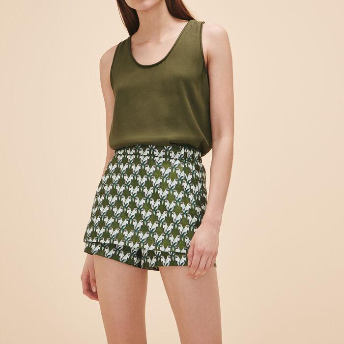 Jacquard short - Skirts & Shorts - MAJE