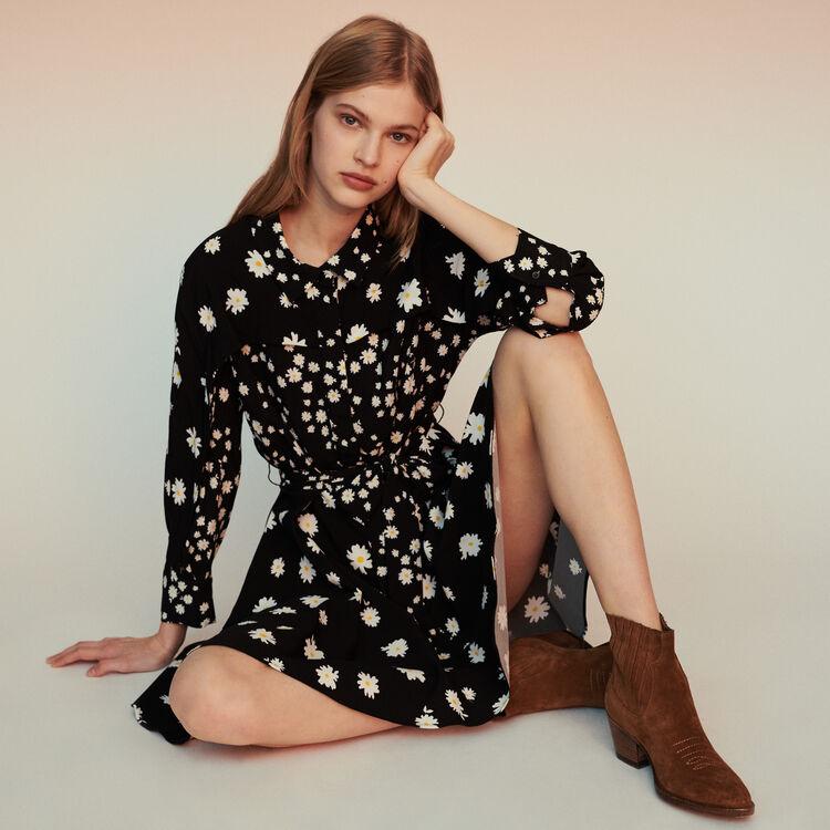 마쥬 RAFI 데이지 원피스 MAJE Dress with mixed daisy print,Print