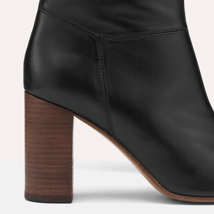 Smooth leather boots - Shoes - MAJE