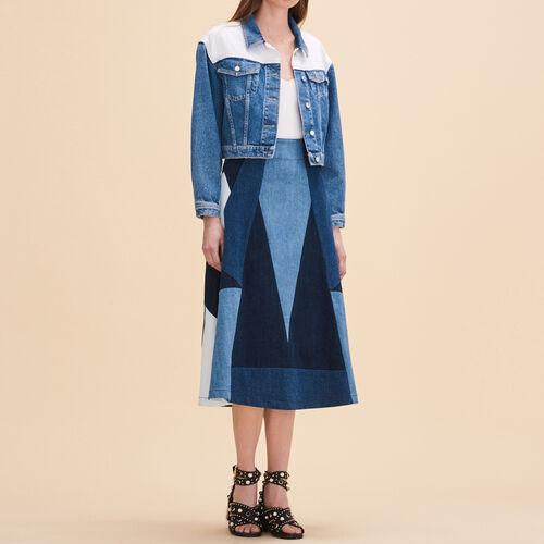 Denim flared skirt - Skirts & Shorts - MAJE