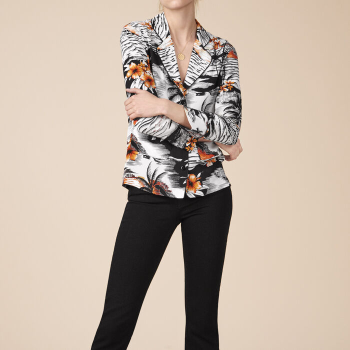 Pyjama-style printed shirt -  - MAJE