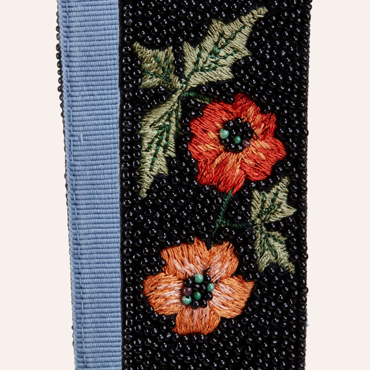 Detachable embroidered strap -  - MAJE