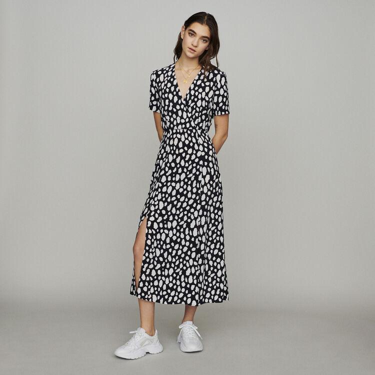 마쥬 RILINE 프린티드 롱 원피스 MAJE Long printed dress,PRINTED