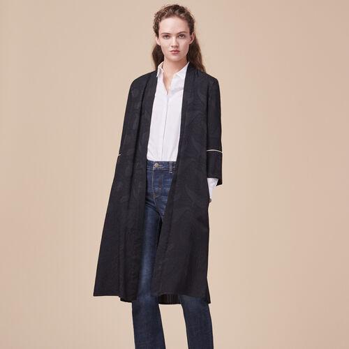 Floaty kimono-inspired coat - Coats & Jackets - MAJE