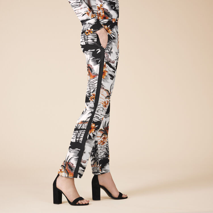 Floaty printed trousers - Pants & Jeans - MAJE