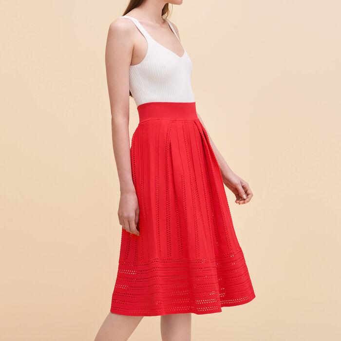 Openwork knit skirt - Skirts & Shorts - MAJE