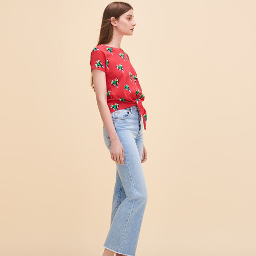 Parrot print T-shirt - Tops & Shirts - MAJE