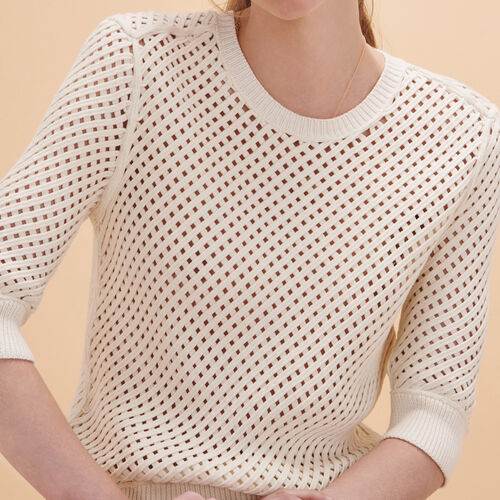 Woven knit jumper - Sweaters - MAJE