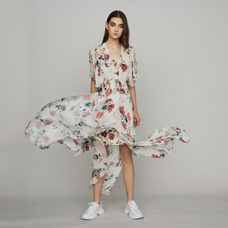 마쥬 RACHELLE 프린티드 스카프 원피스 MAJE Scarf dress in printed chiffon,PRINTED