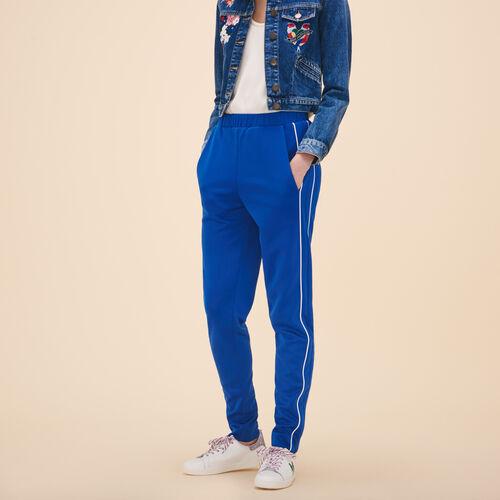 Sportswear-inspired trousers - Pants & Jeans - MAJE