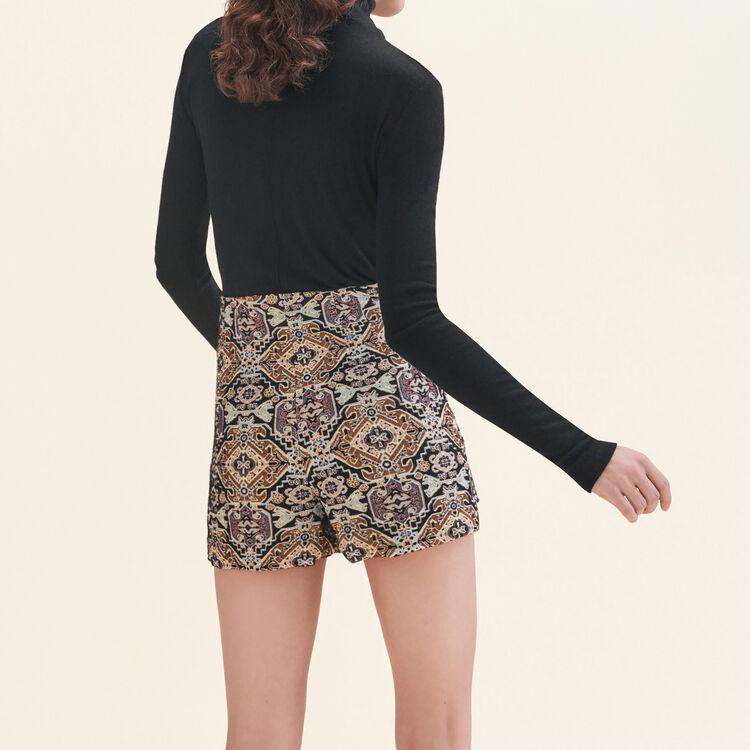 Cropped jacquard shorts - Skirts & Shorts - MAJE