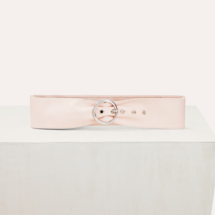 마쥬 MAJE ARUM Wide leather belt