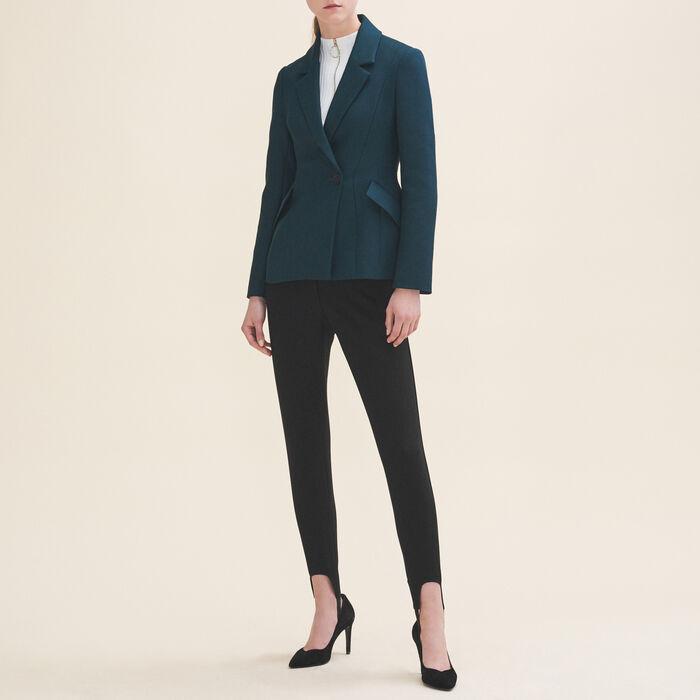 Structured jacket with peplum - Coats & Jackets - MAJE