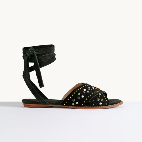 Flat sandals with studs - Shoes & Accessories - MAJE