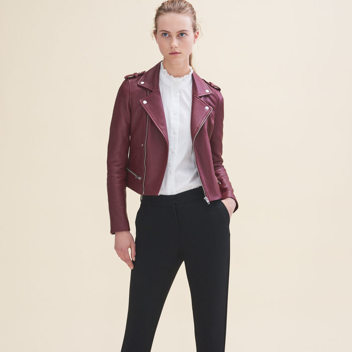 Leather jacket -  - MAJE