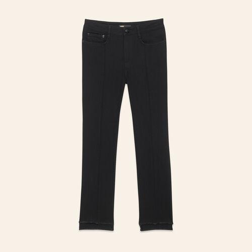 Straight-cut jeans with asymmetric hem - Pants & Jeans - MAJE