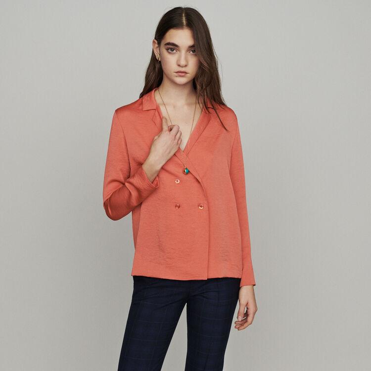 마쥬 CALISSON 블레이저 스타일 블라우스 코랄 MAJE Blazer-style blouse,Coral