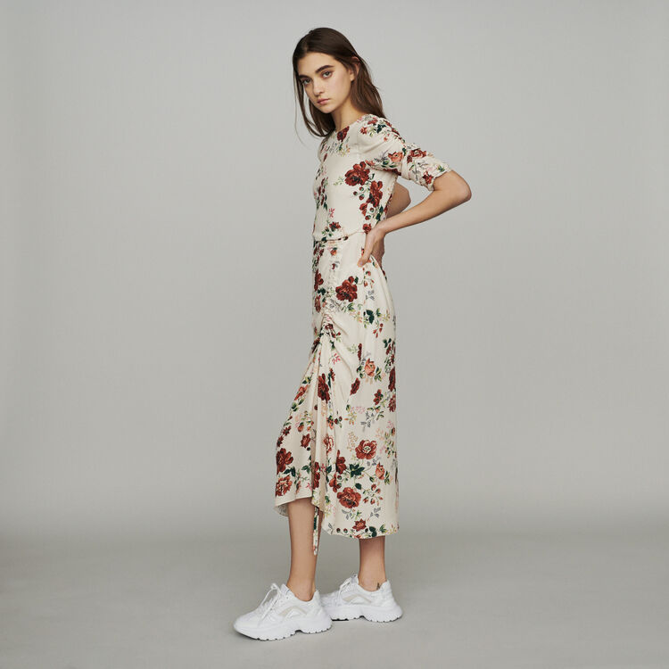 마쥬 RONDI 플로럴 프린트 롱 원피스 MAJE Long dress with floral print,Print