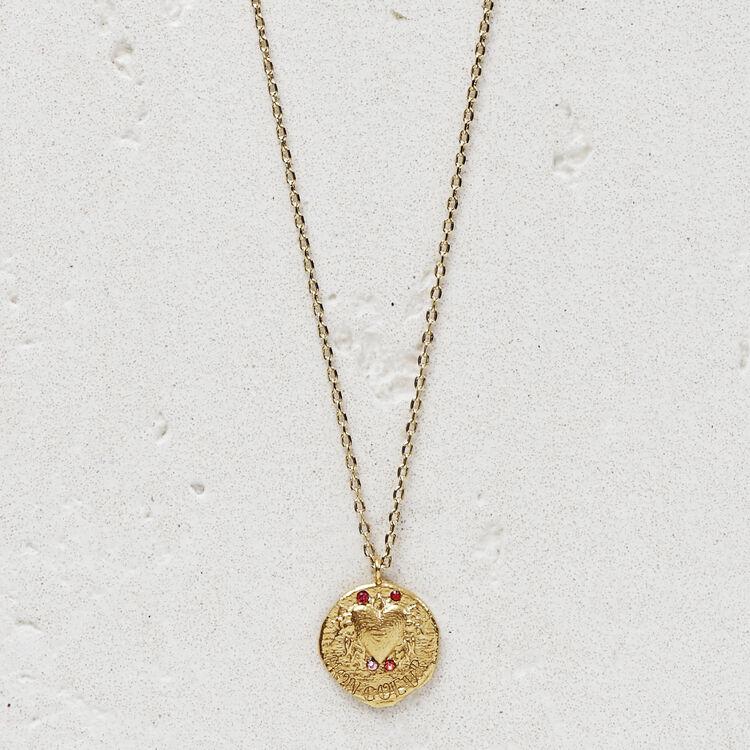 마쥬 NCOEUR 목걸이 MAJE NCOEUR Necklace Mon coeur in gold plated,GOLD
