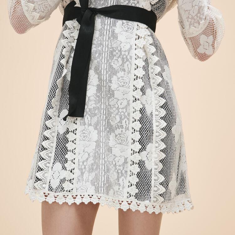 Lace dress with belt - Dresses - MAJE