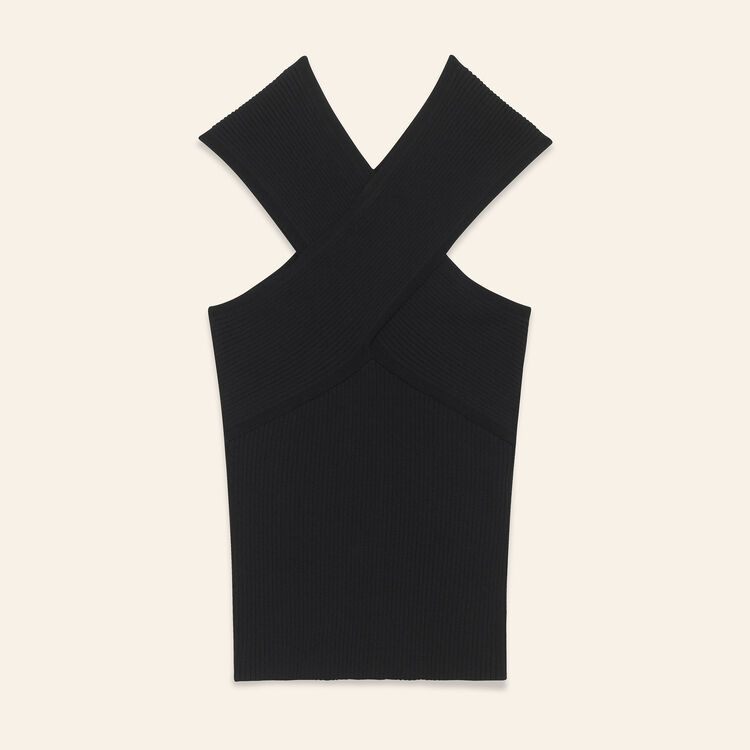 Ribbed knit sleeveless top - Sweaters - MAJE