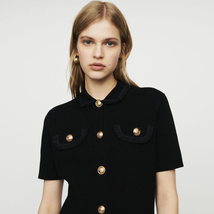 마쥬 니트 원피스 - 블랙 MAJE RAVENA Knit dress,Black 210
